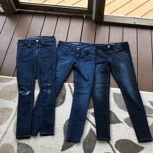 BUNDLE OF 3!  American Eagle Jeggings. Size 8.